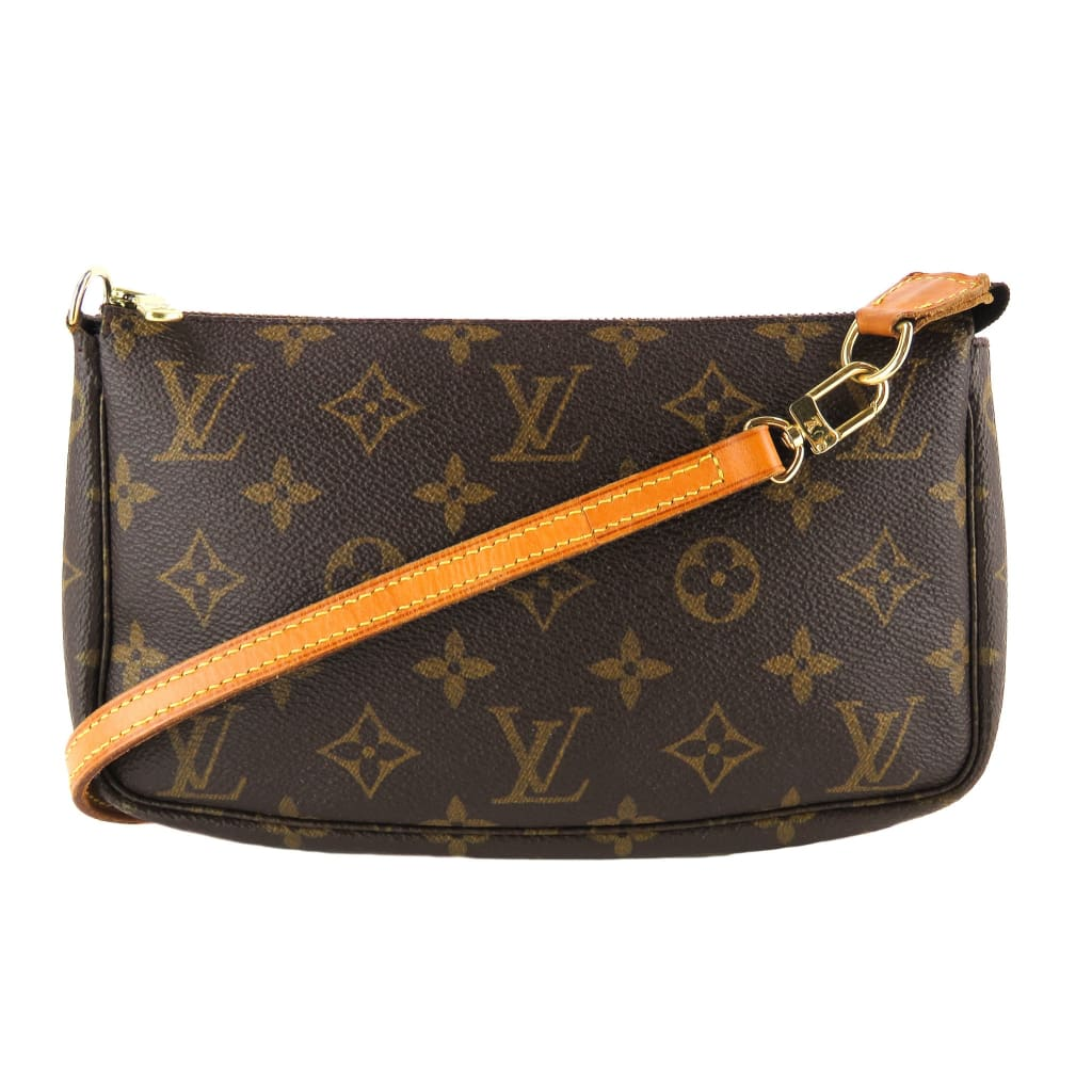 Louis Vuitton Brown Monogram Canvas Pochette Crossbody Bag - Clutches