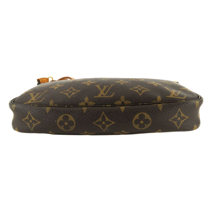 Louis Vuitton Brown Monogram Canvas Pochette Wristlet Crossbody Bag - Crossbodies