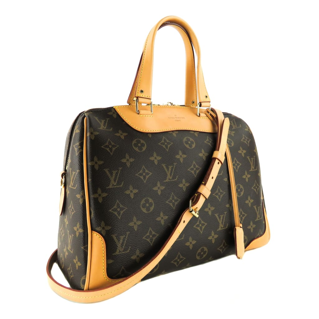 Louis Vuitton Brown Monogram Canvas Retiro MM Satchel Bag - Satchels