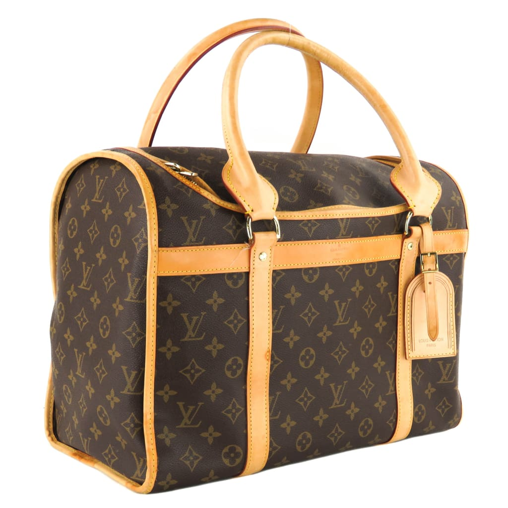 Louis Vuitton Brown Monogram Canvas Sac Chien 40 Dog Carrier - Luggage