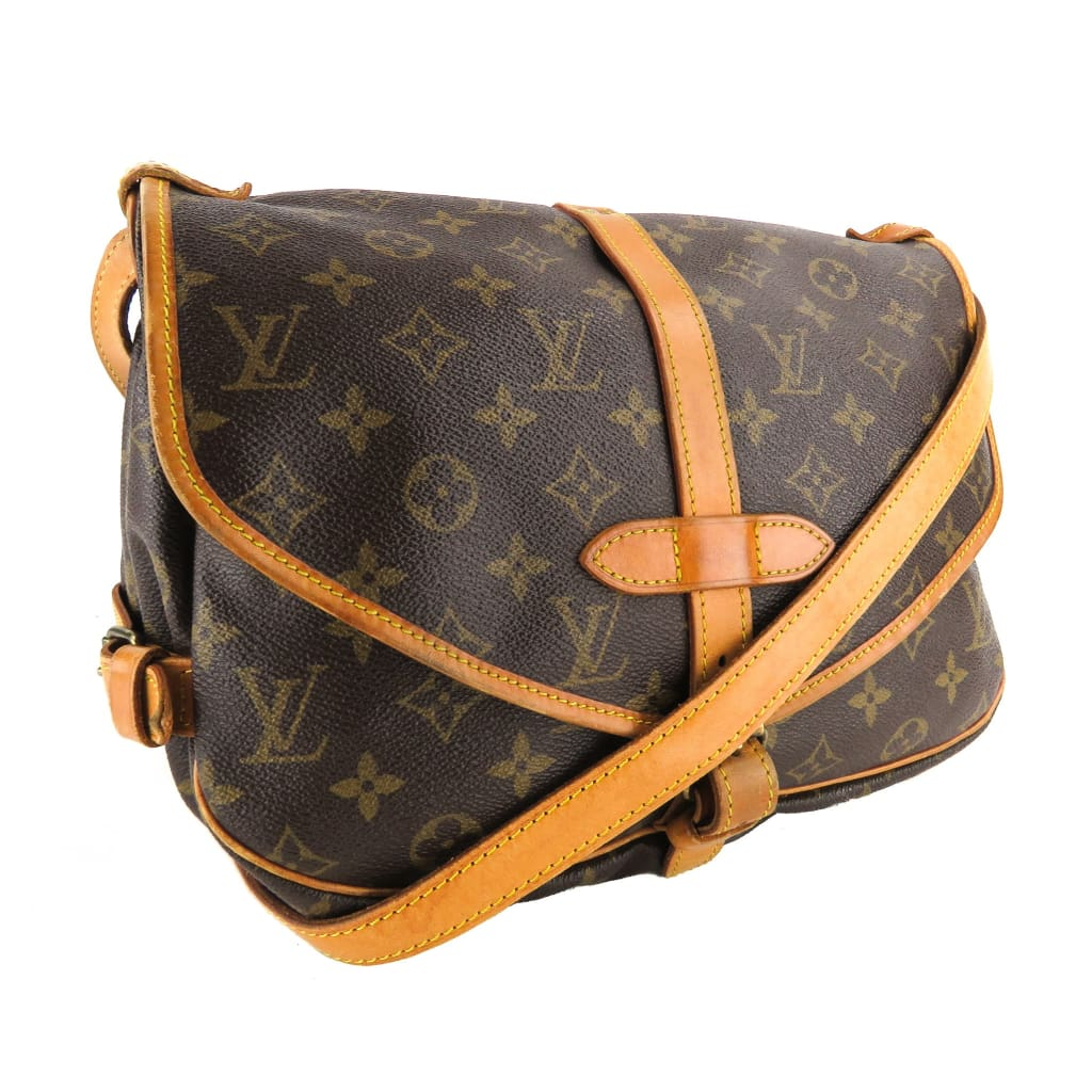 Louis Vuitton Brown Monogram Canvas Saumur 30 Messenger Crossbody Bag - Crossbodies