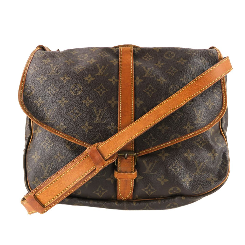 Louis Vuitton Brown Monogram Canvas Saumur 35 Crossbody Bag - Crossbodies