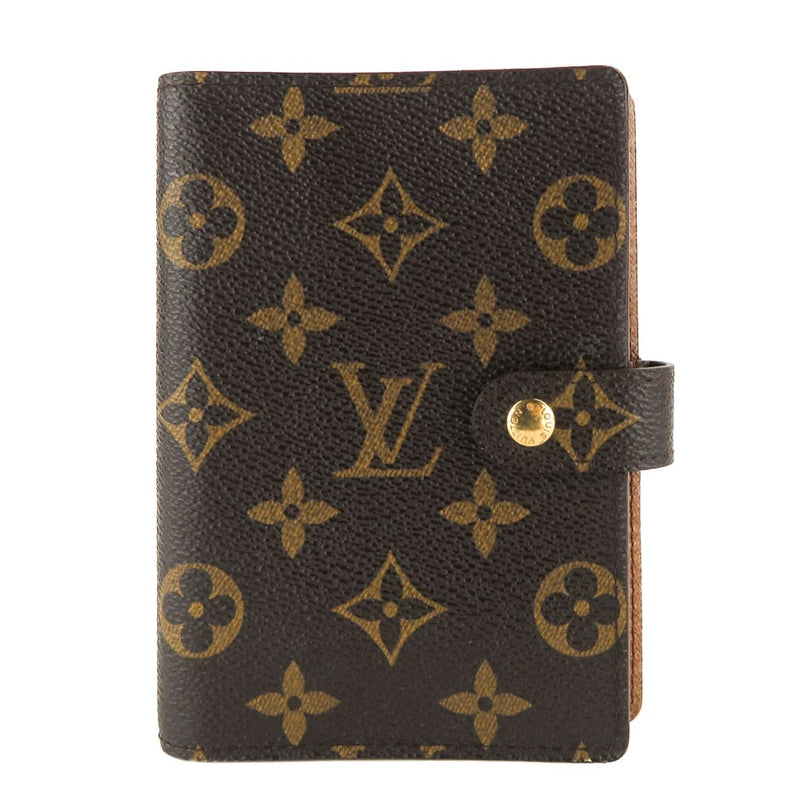 Louis Vuitton Brown Monogram Canvas Small Ring Agenda PM Cover Wallet - Agenda