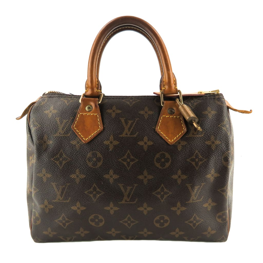 Louis Vuitton Brown Monogram Canvas Speedy 25 Satchel Bag - Satchels