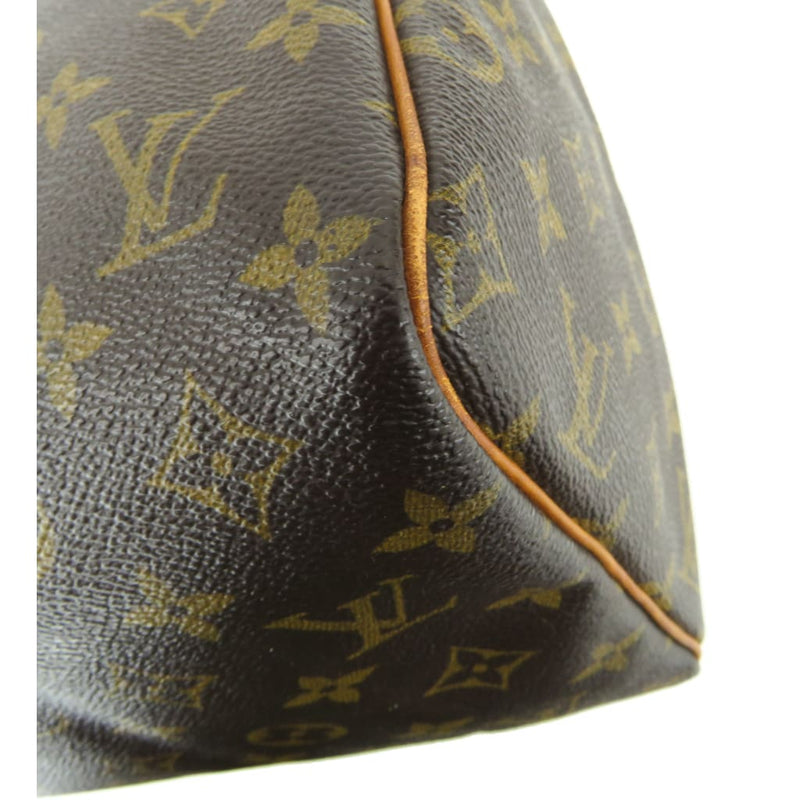 Louis Vuitton Brown Monogram Canvas Speedy 30 Satchel Bag - Satchels