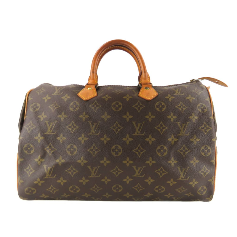 Louis Vuitton Brown Monogram Canvas Speedy 35 Satchel Bag - Satchels