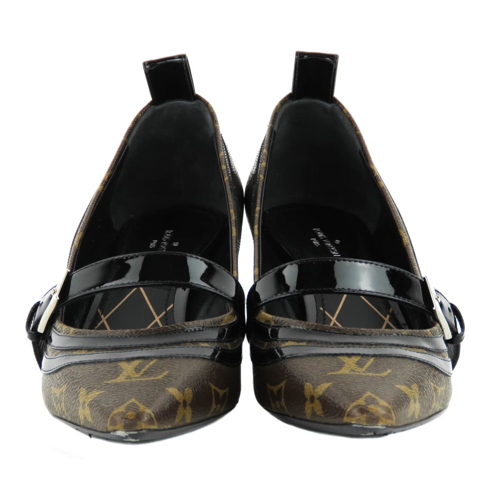 Louis Vuitton Brown Monogram Canvas Star Power Kitten Heels - Heels