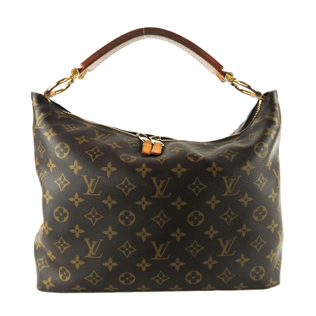 Louis Vuitton Brown Monogram Canvas Sully PM Hobo Shoulder Bag - Hobo Bags