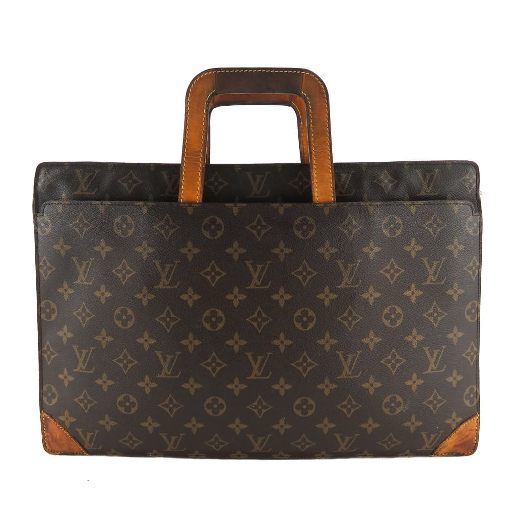Louis Vuitton Brown Monogram Canvas Vintage Briefcase Messanger Bag - Messengers/Diaper Bags