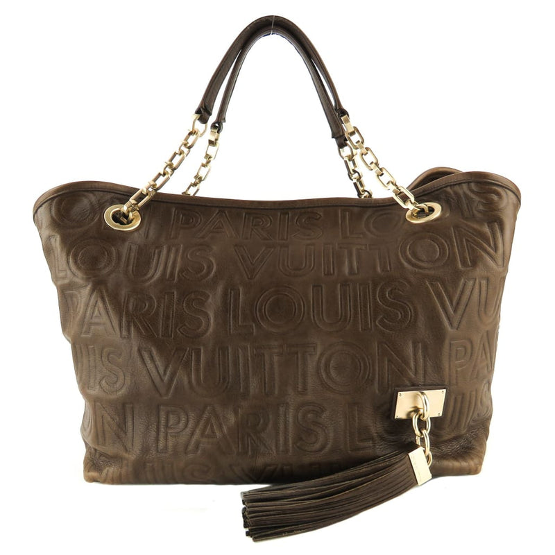 Louis Vuitton Brown Monogram Leather Pans Souple Whisper PM Shoulder Bag - Shoulder Bags