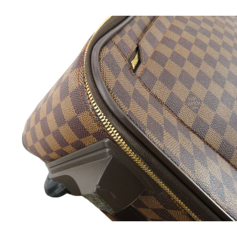 Louis Vuitton Ebene Damier Canvas Pegase 55 Rolling Luggage Bag - Luggage