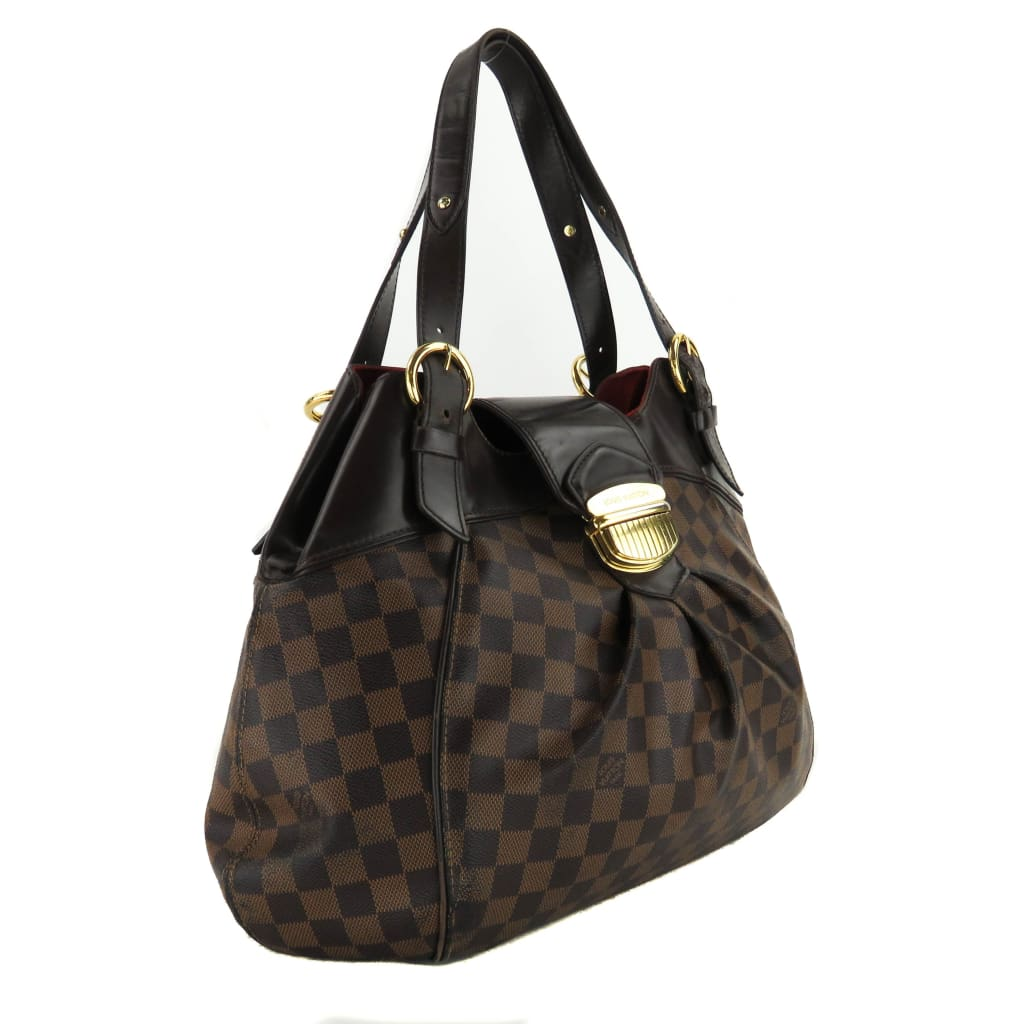 Louis Vuitton Ebene Damier Canvas Sistina GM Shoulder Bag - Shoulder Bags