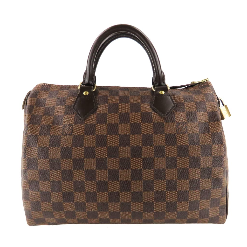 Louis Vuitton Ebene Damier Canvas Speedy 30 Satchel Bag - Satchels