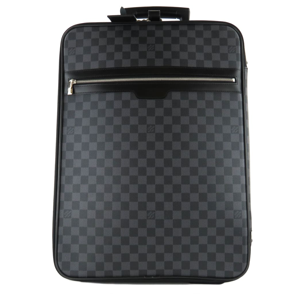 Louis Vuitton Graphite Damier Pegase 55 Rolling Luggage Bag - Luggage