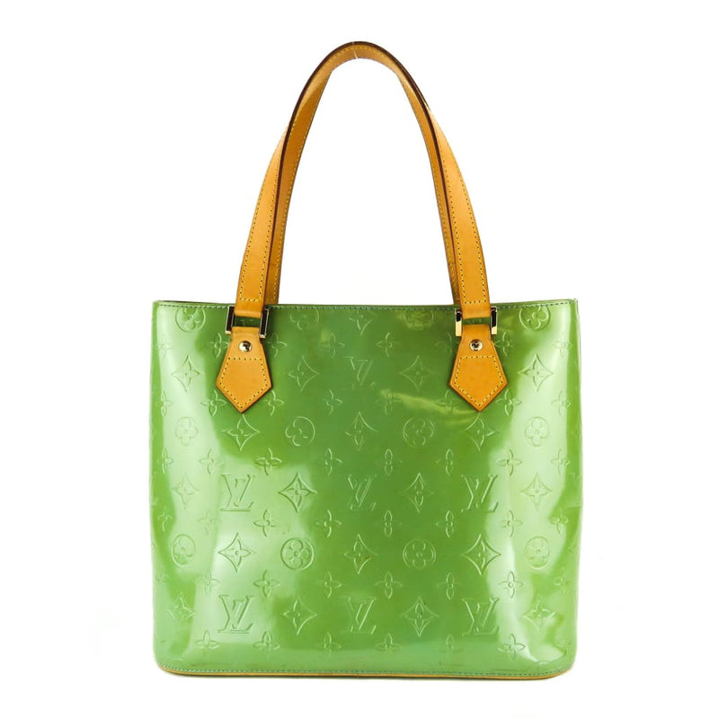 Louis Vuitton Green Monogram Vernis Leather Houston Tote Shoulder Bag - Shoulder Bags
