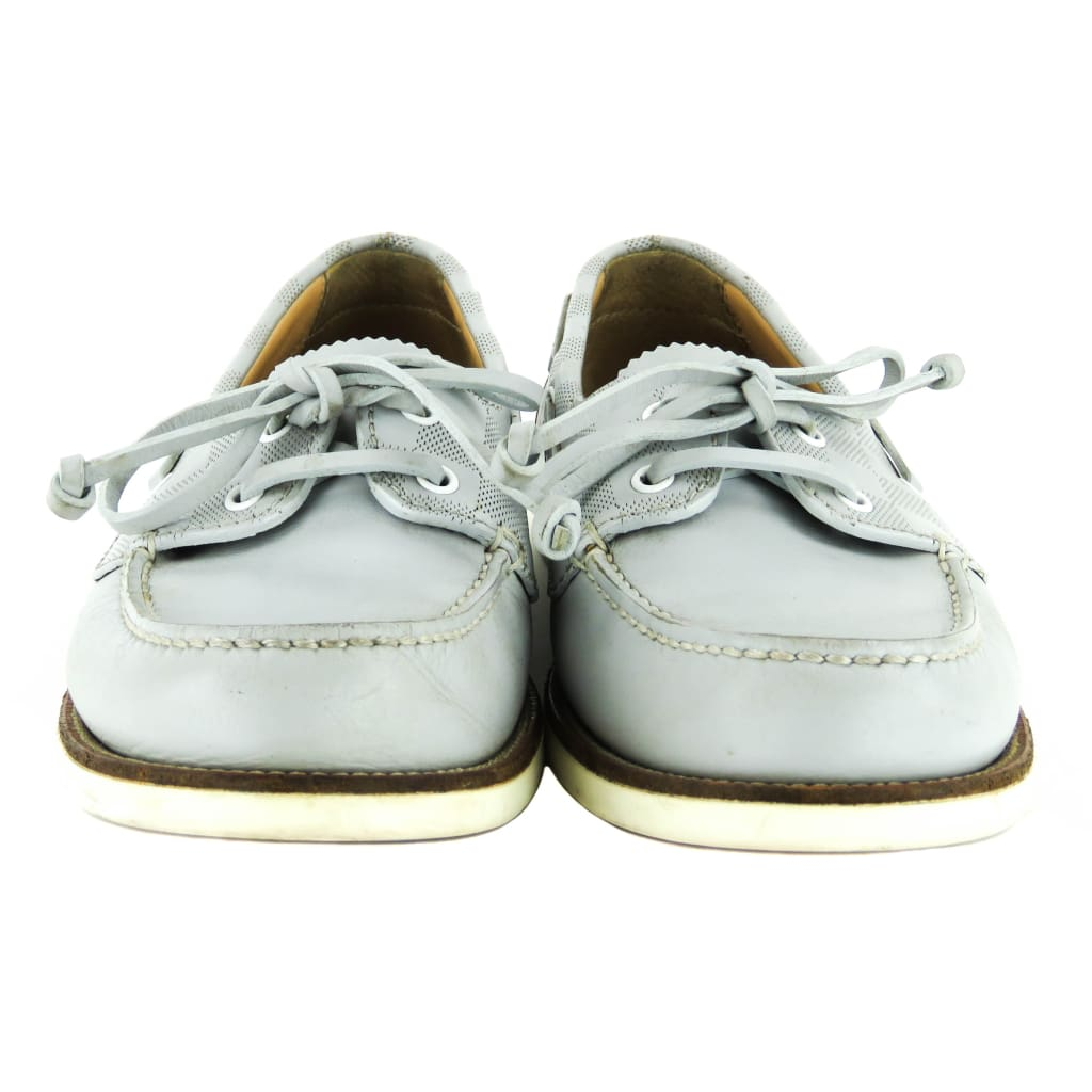 Louis Vuitton Grey Leather Damier Marina Bay Boat Loafer Flats - Flats