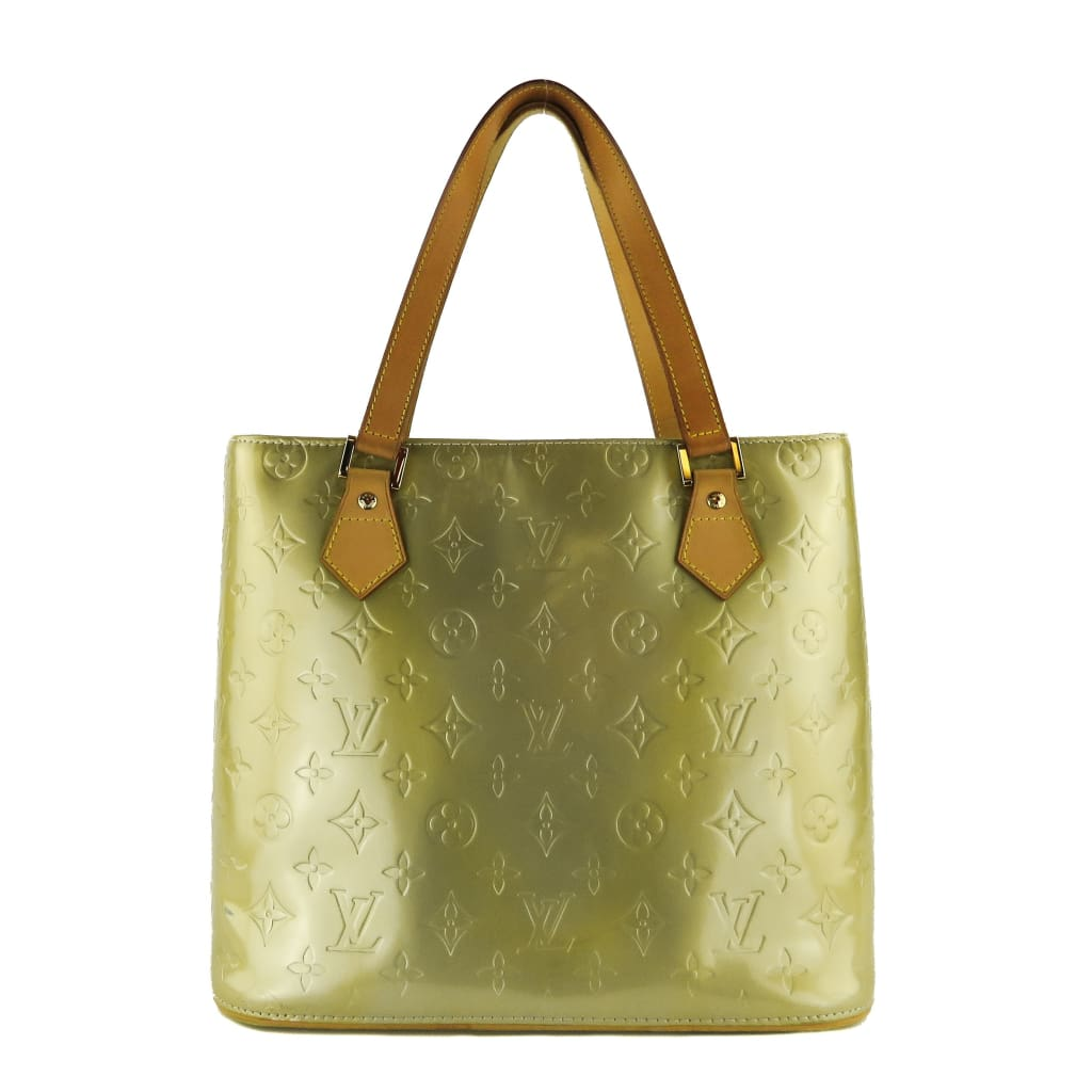 Louis Vuitton Light Green Monogram Vernis Leather Houston Tote Shoulder Bag - Totes