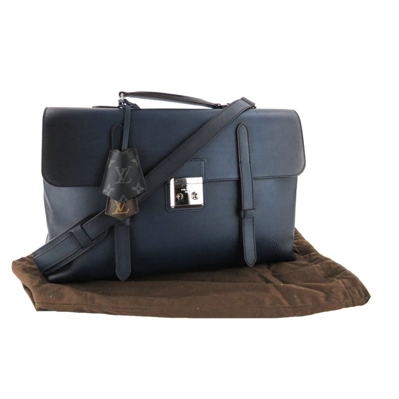 Louis Vuitton Navy Blue Leather Ombre Encre Cartable Messenger Bag - Messengers/Diaper Bags
