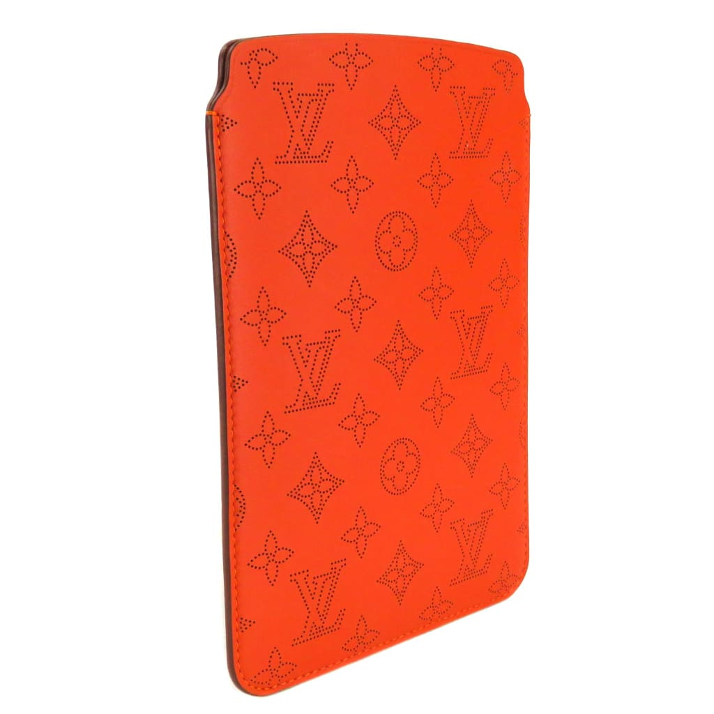 Louis Vuitton Orange Mahina Leather Airsoft Mini iPad Case - iPad Case