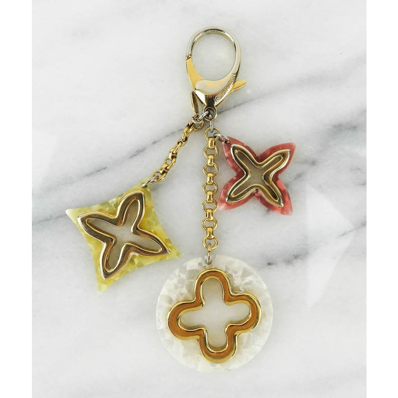 Louis Vuitton Pink and White Resin Monogram Insolence Bag Keychain - Keychains