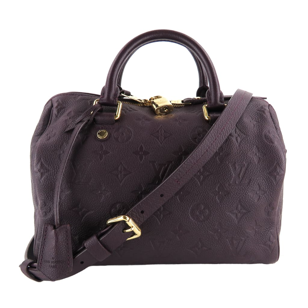 Louis Vuitton Purple Empreinte Leather Aube Speedy 25 Bandouliere Satchel Bag - Satchels
