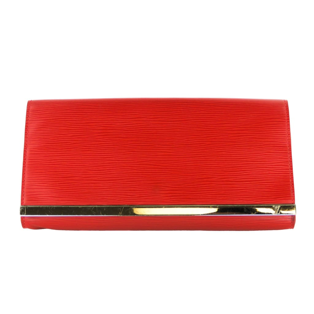 Louis Vuitton Red Epi Leather Sevigne Clutch Bag - Clutches