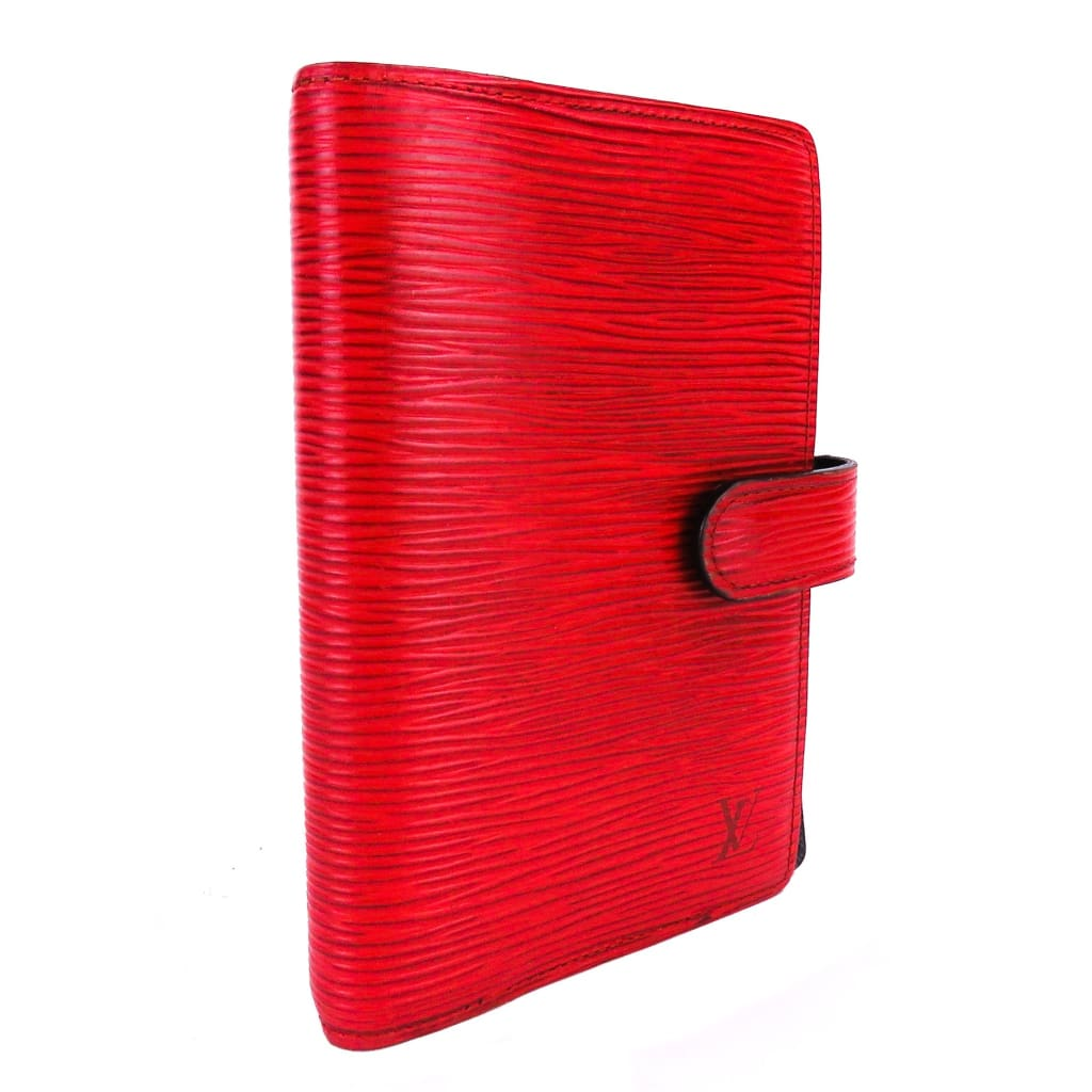 Louis Vuitton Red Epi Leather Small Ring Agenda Cover - Agenda