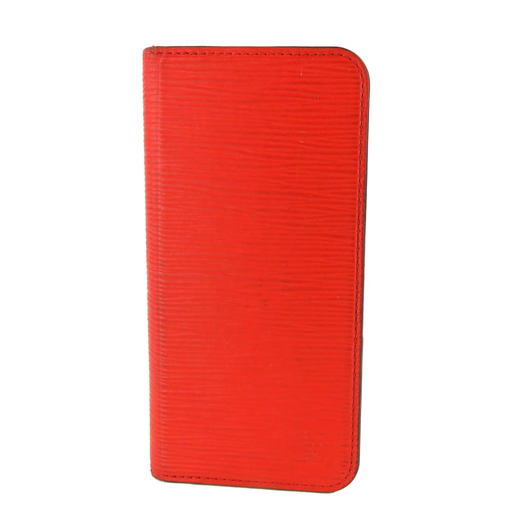 Louis Vuitton Red Scarlet Epi Leather iPhone 6+ Folio Case - Phone Case
