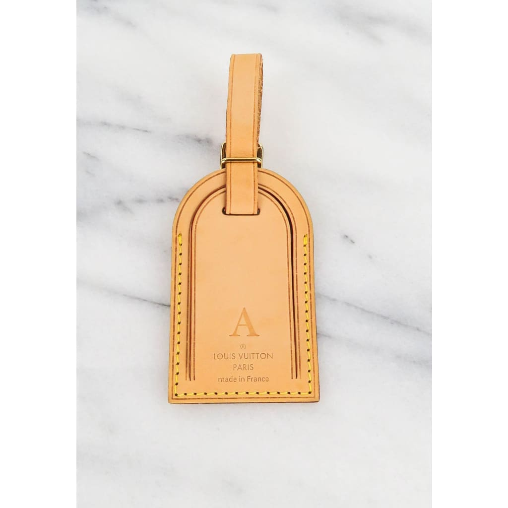 Louis Vuitton Tan Leather A Intial Luggage Tag - Luggage