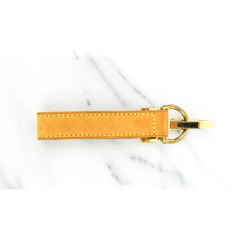 Louis Vuitton Tan Leather Luggage Holder Strap - Luggage