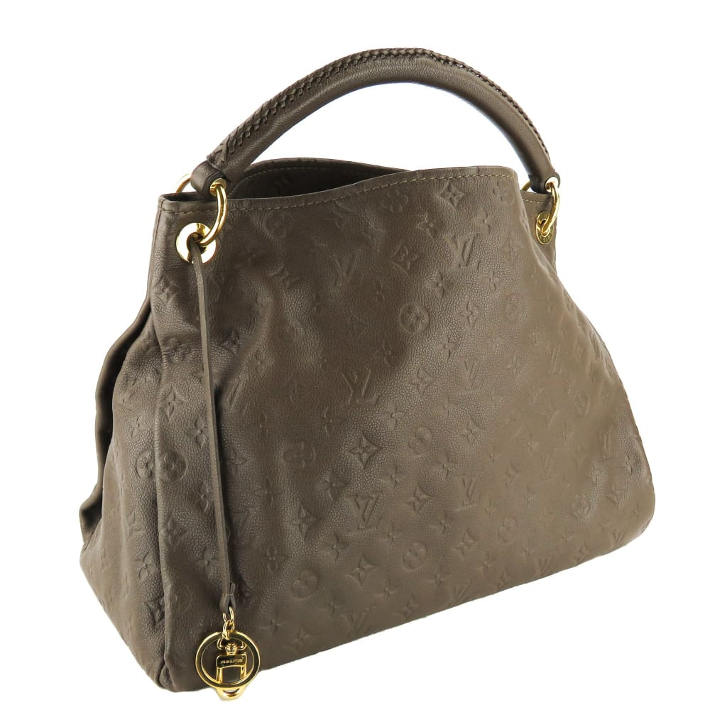 Louis Vuitton Taupe Monogram Empreinte Leather Artsy MM Shoulder Bags - Hobo Bags