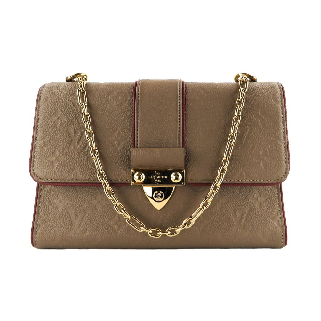 Louis Vuitton Taupe Monogram Empreinte Leather Saint Sulpice PM Shoulder Bag - Shoulder Bags