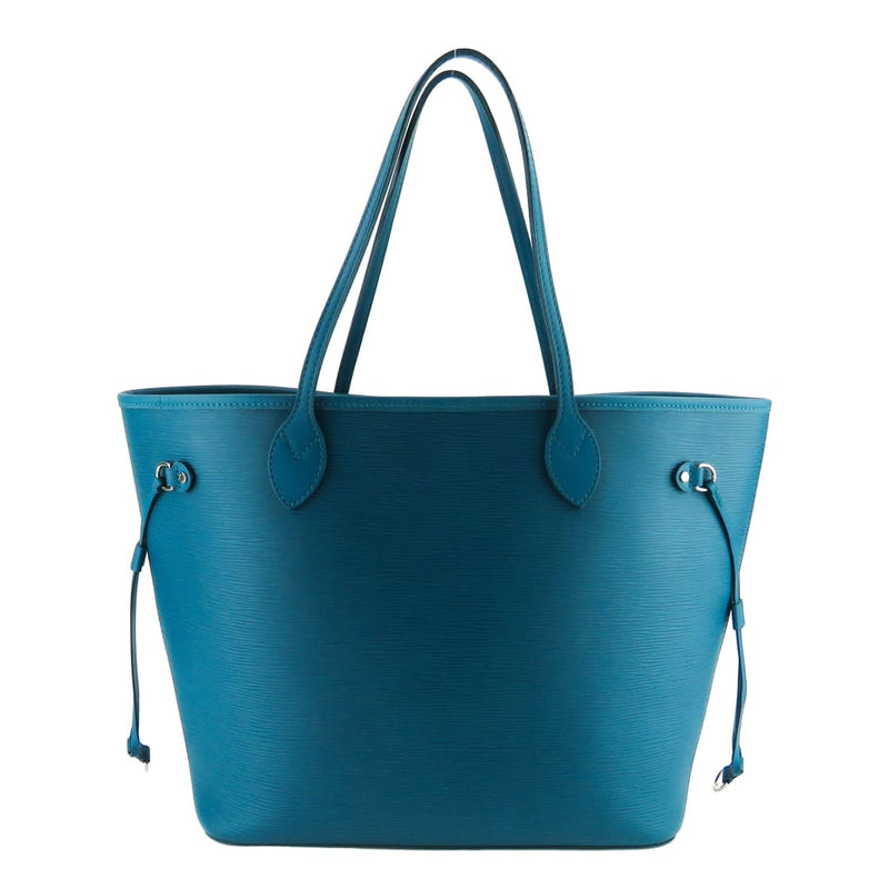 Louis Vuitton Teal Epi Leather Neverfull MM Tote Bag - Totes