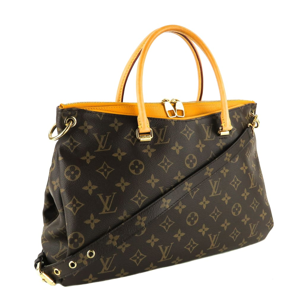 Louis Vuitton Yellow Monogram Canvas Safran Imperial Pallas Satchel Bag - Satchels
