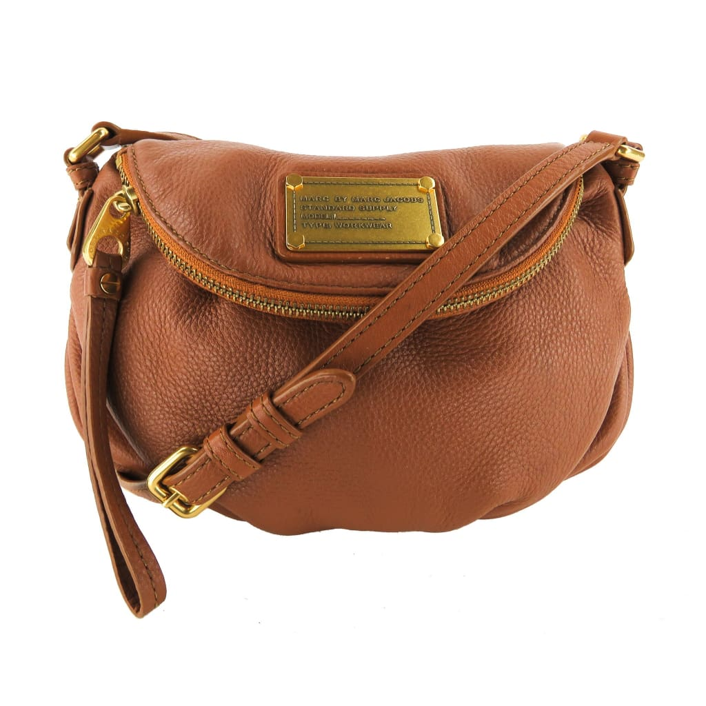 Marc by Marc Jacobs Brown Leather Classic Q Mini Natasha Crossbody Bag - Crossbodies