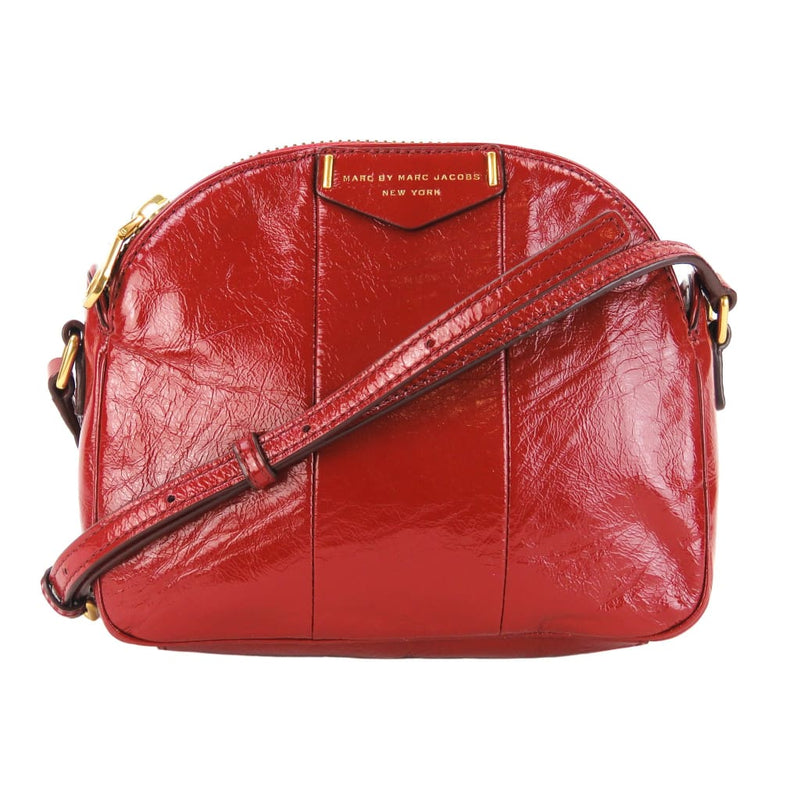 Marc by Marc Jacobs Red Patent Leather Downtown Lola Crossbody Bag - Crossbodies