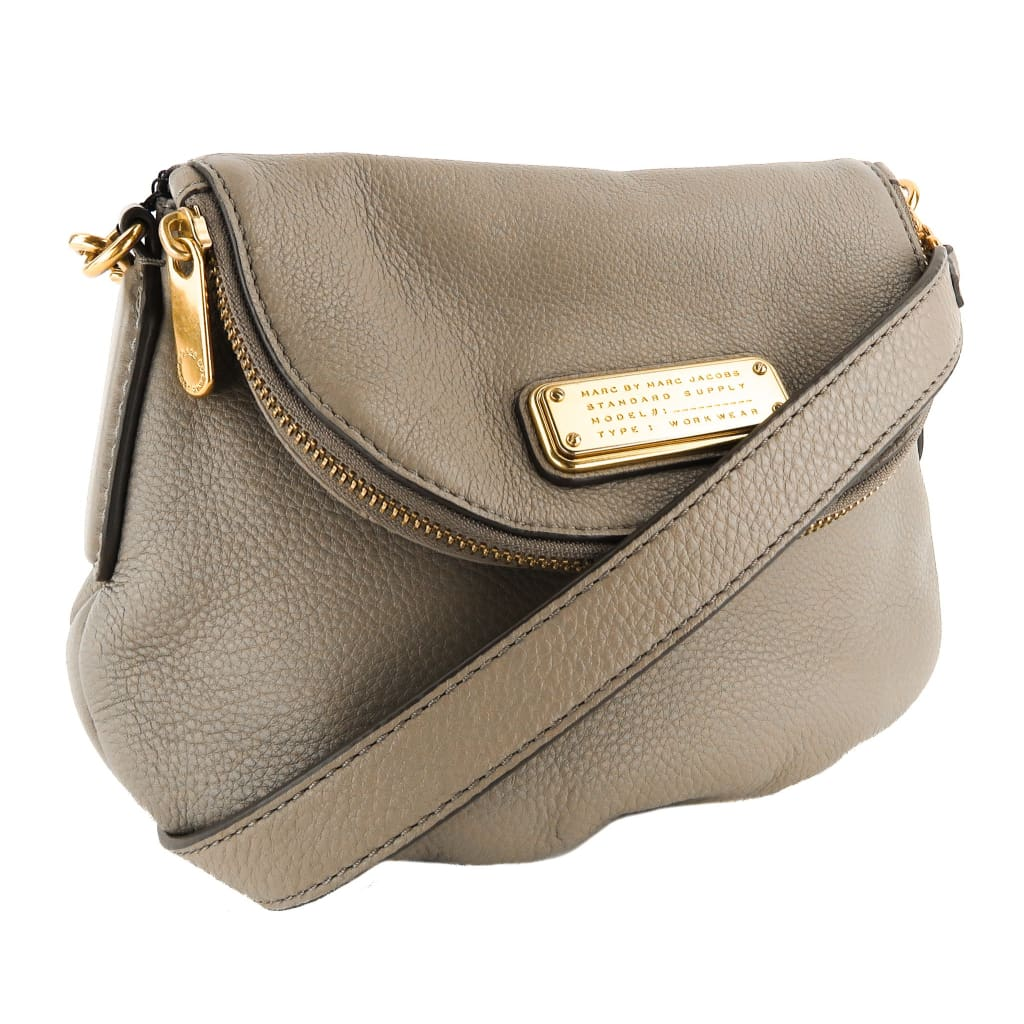 Marc by Marc Jacobs Taupe Leather Mini Natasha Crossbody Bag - Crossbodies