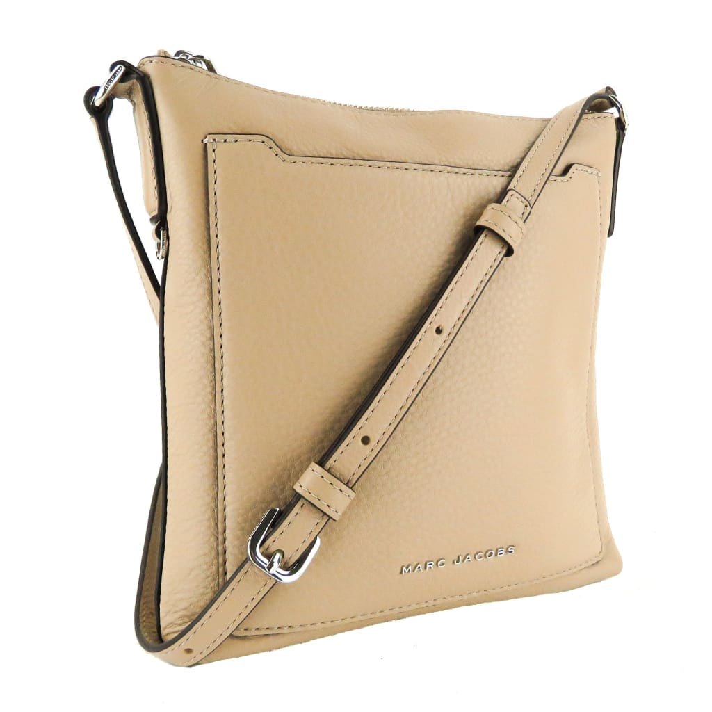 Marc Jacobs Beige Pebbled Leather Tourist NS Crossbody Bag - Crossbodies