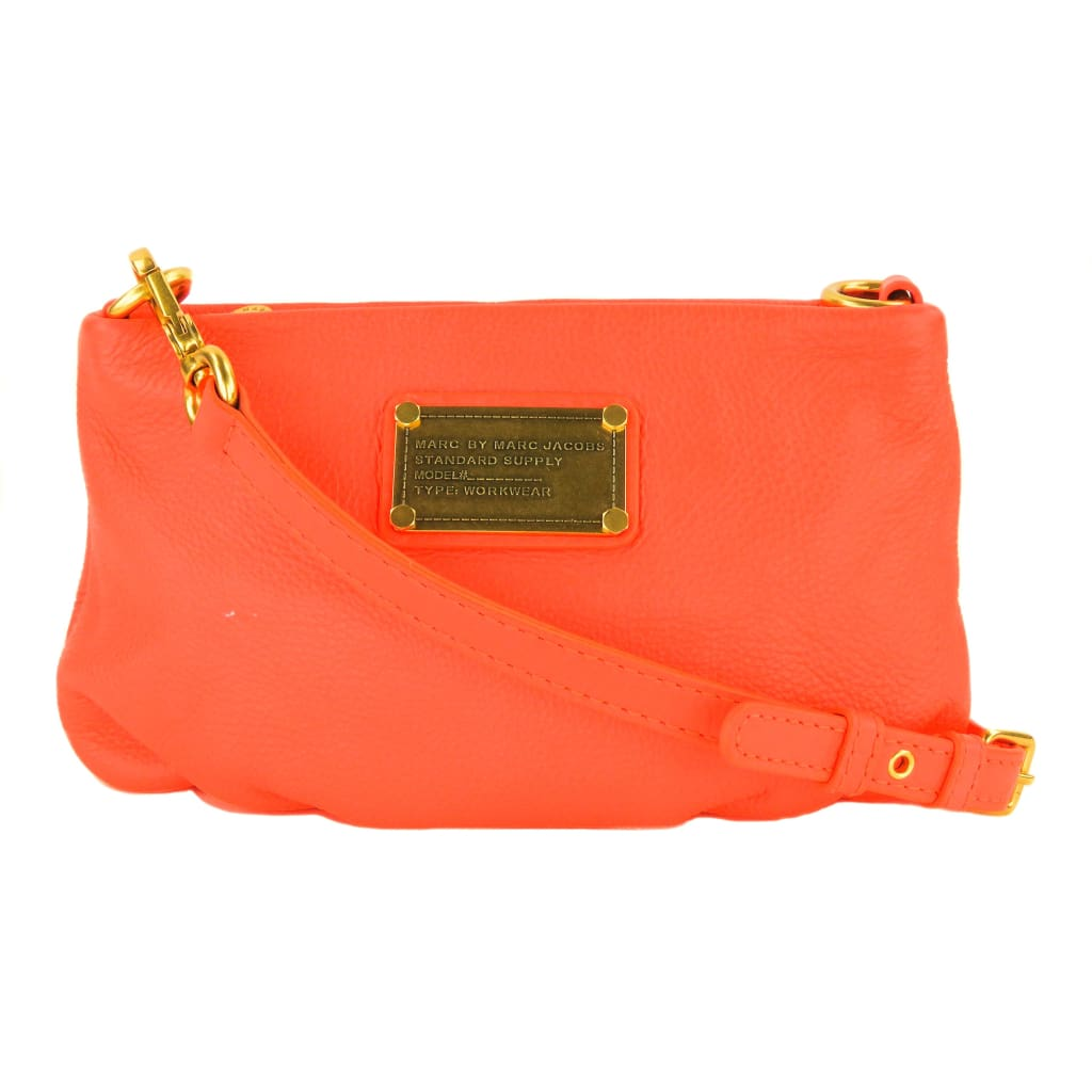 4e85e6ae2143 Marc Jacobs Orange Leather Classic Q Percy Crossbody Bag – Mosh Posh  Designer Consignment Boutique