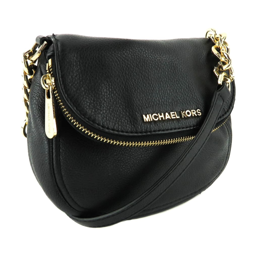 Michael Kors Black Leather Luggage Bedford Crossbody Bag - Crossbodies