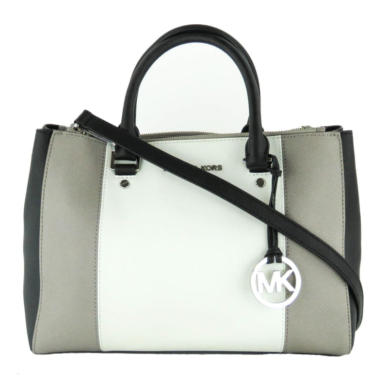 Michael Kors Black Tri-Color Saffiano Leather Sutton Satchel Bag - Satchels