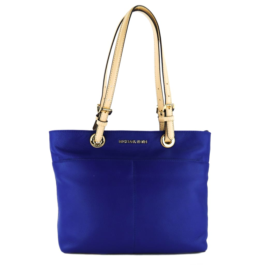 MICHAEL Michael Kors Blue Leather Bedford Tote Bag - handbags