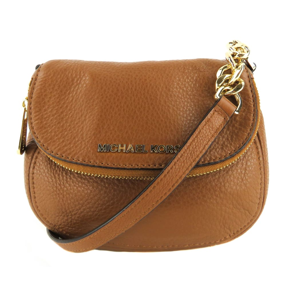 Michael Kors Brown Leather Luggage Bedford Crossbody Bag - Crossbodies