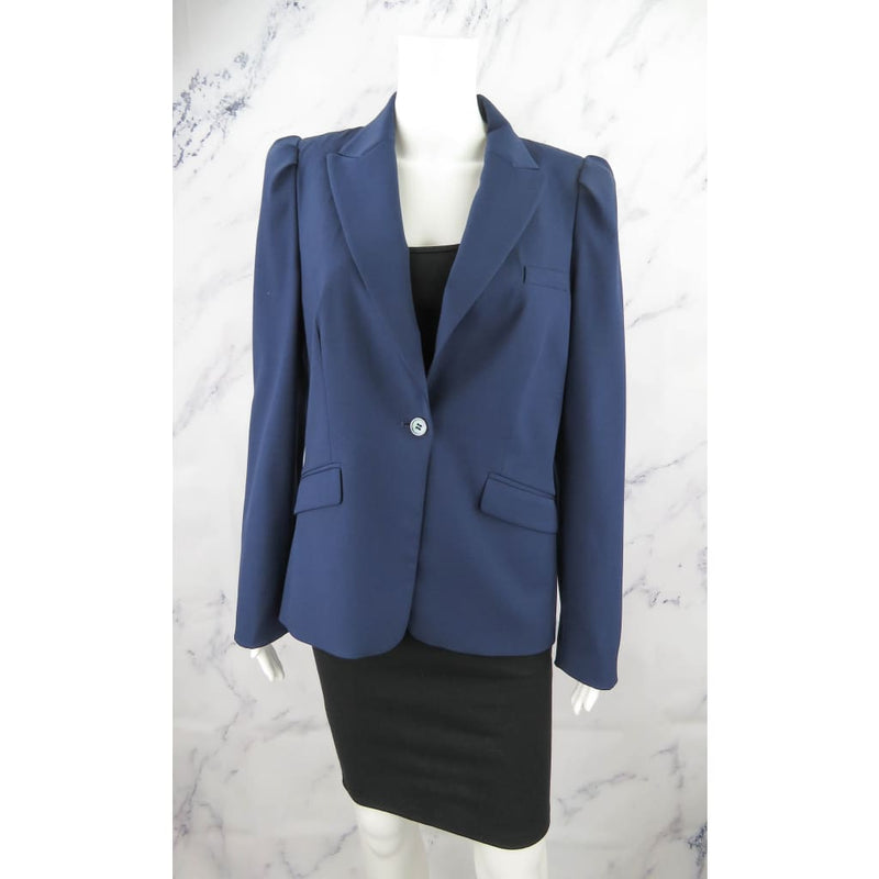 Michael Kors Collection Navy Blue Wool Size 10 Blazer Jacket - Blazer