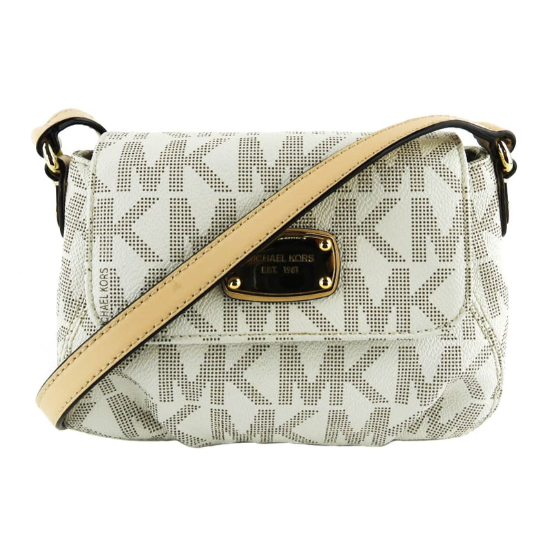 MICHAEL Michael Kors Ivory Signature Canvas Vanilla Jet Set Crossbody Bag - Crossbodies