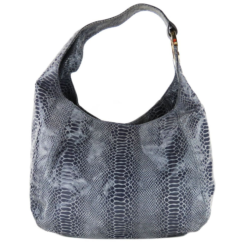 26a359a6a9f1 Michael Kors Purple Python Embossed Leather Fulton Hobo Shoulder Bag ...