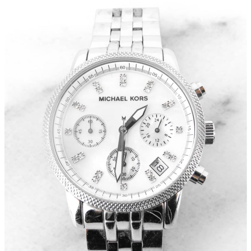 MICHAEL Michael Kors Silver-tone Parker Crystal Dial MK6284 Chronograph Watch - Watches