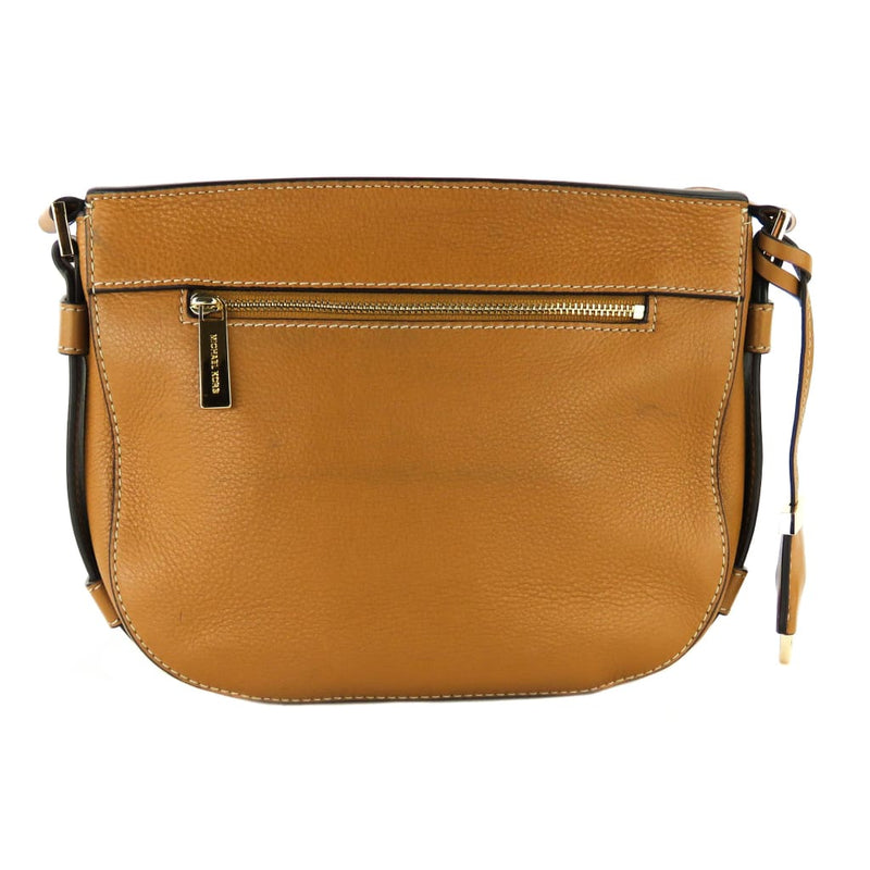 Michael Kors Tan Leather Acorn Romy Messenger Crossbody Bag - Crossbodies