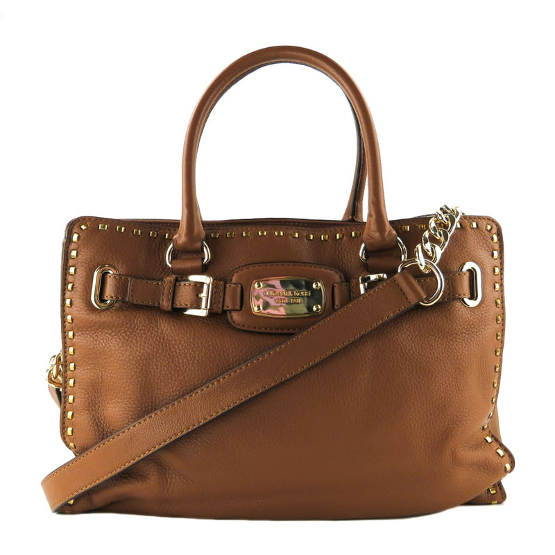 MICHAEL Michael Kors Tan Leather Hamilton Whipped East West Satchel Bag - Satchels