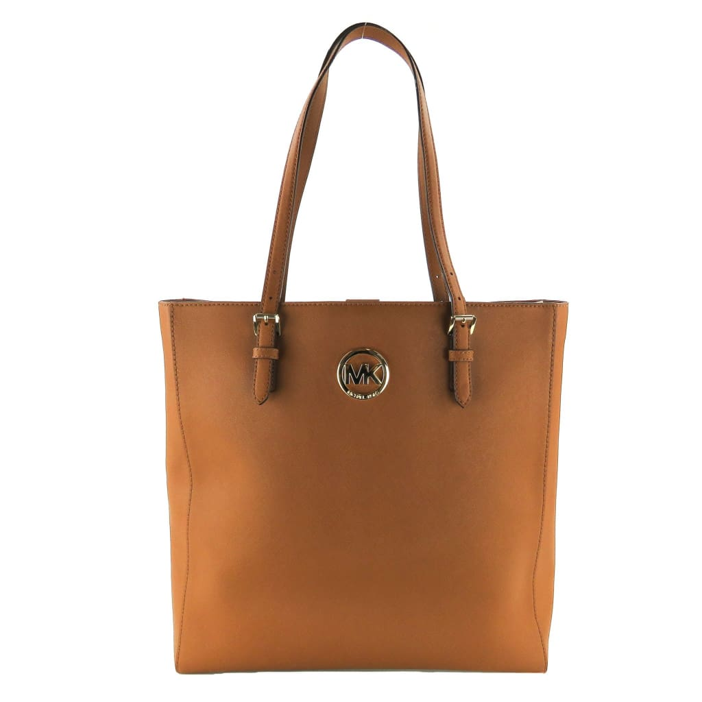 Michael Kors Tan Leather Luggage Jet Set Travel Tote Bag - Totes